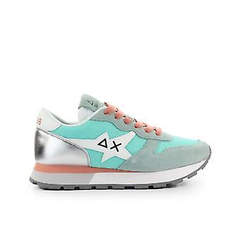 Sun68 Ally Star Basic Aqua Green Silver Sneaker