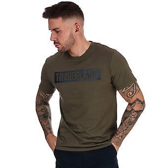 Menn Timberland SS 3D Preget T-skjorte i grønt