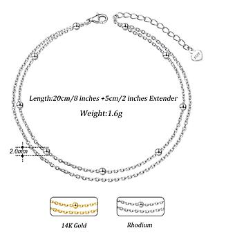 Double layer fashion anklet
