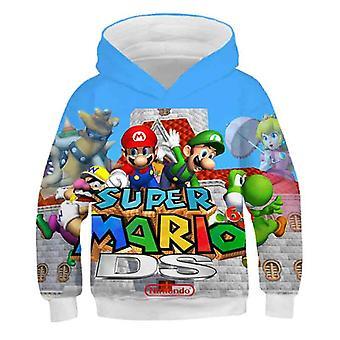 3d Print, Super Mario Cartoon Hooded Sweatshirt For Set-12