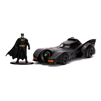 DC Comics - Batman 1989 Elokuva Batmobile Die-cast Vehicle ja Metalli Batman Mini Figure