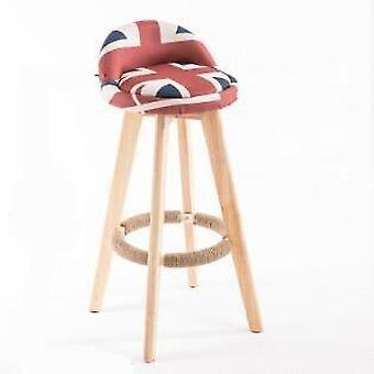 Minimalistische Massivholz High Hocker Bar Hocker Bar Stuhl