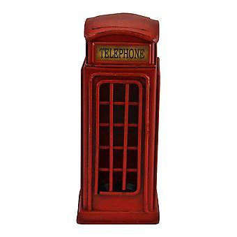Traditionell röd telefonlåda pengalåda