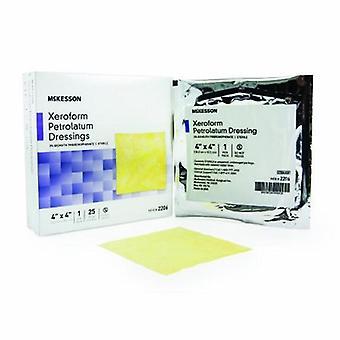McKesson Xeroform Petrolatum Dressing McKesson 4 X 4 Pollici Garza Bismuth Tribromofenato Sterile, 1 Ciascuno