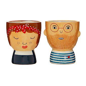 Sass &Belle (Set de 2) Libby &Ross Egg Cups