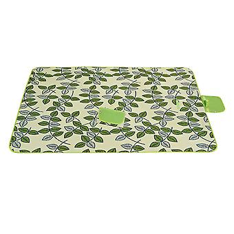 Dark green and white 145x180cm outdoor moisture-proof waterproof oxford cloth picnic blanket mat striped park blanket necessary for picnic homi2814