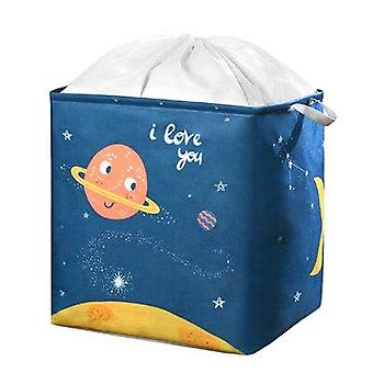 Large Storage Bag For Clothing Cotton Quilt Moving Household Clothes Packing (Dark Blue)