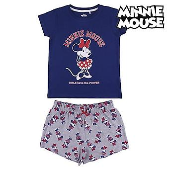 Children's Pyjama Minnie Mouse Grey Blue
