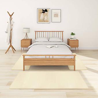 vidaXL عالية كومة حصيرة السرير 3 PCS. كريم أبيض