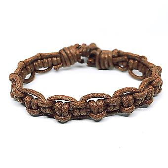 Bracelet brun avec nœuds motif naturel