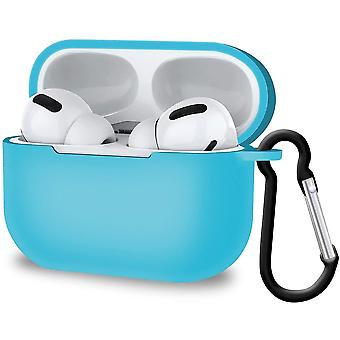 Shock-Absorbing Protective Cover for AirPods Pro Supports Wireless Charging (Sky Blue)(Sky Blue)