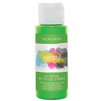 Neon Green docrafts Artiste All Purpose Acrylic Craft Paint - 59ml