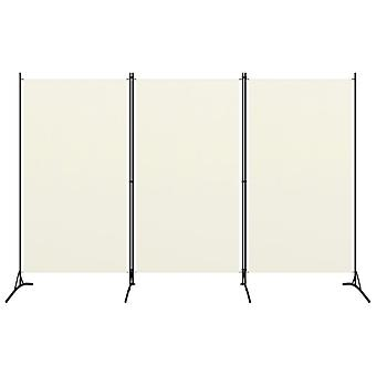 vidaXL 3-pcs. Room divider Cream White 260x180 cm