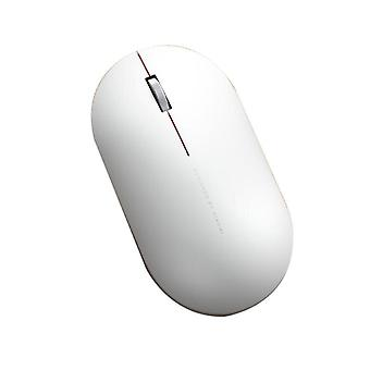 XIAOMI 2.4GHz Wireless 1000DPI Portable Streamlined Shape Mouse for PC Computer Flat Laptops WHITE