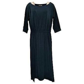 Brittany Humble Petite Dress B.E. Ready Dolman Sleeve Midi Blue 753827