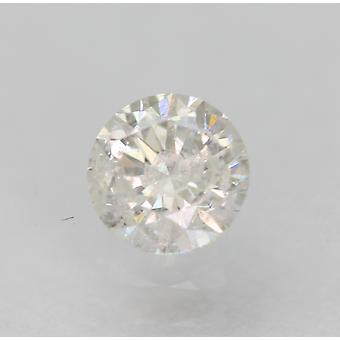 معتمد 0.36 قيراط E لون SI2 جولة رائعة الماس فضفاضة الطبيعية 4.5mm