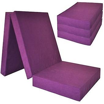 Makuupatja erittäin paksu - violetti - leirintäpatja - matkapatja - taitettava patja - 195 x 70 x 15