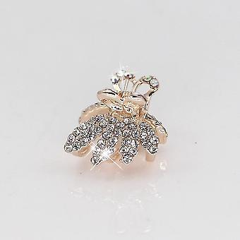 Metal Crab Claw Clip- Charm Barrette Full Rhinestone Wedding Hair Accessories