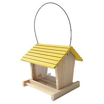 الطيور المغذية خشبية حديقة الديكور البرية الطيور تغذية موزع منزل الطيور الخشبية مع سقف المنزل حديقة