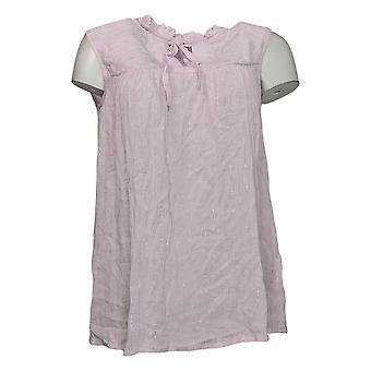 G by Giuliana Women's Top Summer Shine Woven Blouse Pink 650879