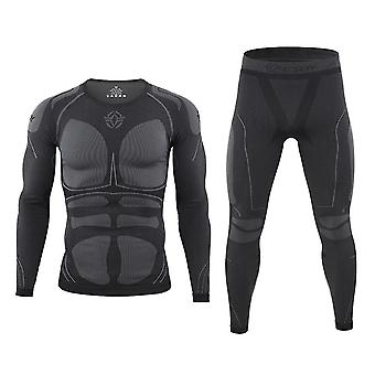 Thermal Skiing Underwear Sets Warm-up Men Jacket/pants Quick Dry Clothing