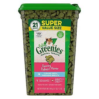 Greenies Feline Natural Dental Treats Tempting Salmon Flavor - 21 oz