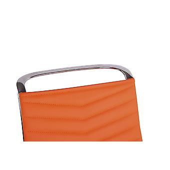 Silla de oficina - Silla de escritorio - Oficina en casa - Moderna - Naranja - Metal - 57 cm x 65 cm x 110 cm