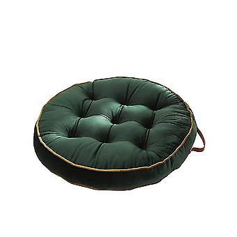 Chaises pure color simple dutch velvet round cushion 58x58cm green