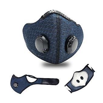 La nueva máscara de polvo de deportes negros se puede usar varias veces