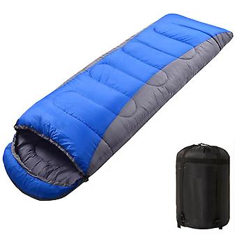 Envelope Sleeping Bag, Lightweight Comfortable Waterproof With Compression Bag, With Zipper, Perfect For 3 Seasons, For Indoor Or Outdoor Use (gray Bl