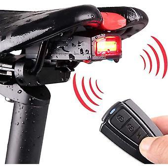 Alarme de vélo Feu arrière, Smart Vélo Arrière Lumière Antivol Lampe d'alarme de vélo Feu arrière