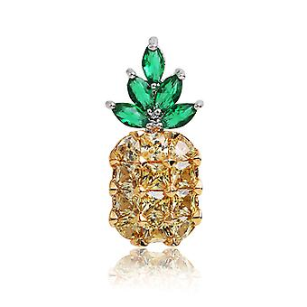 Crystal Strass Emaille Ananas Broche Pins Kleding Accessoires
