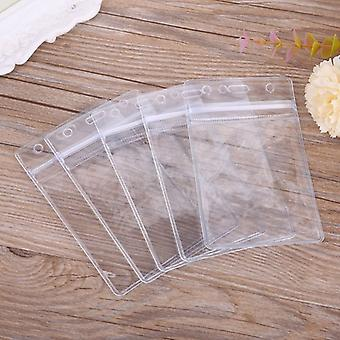 Popular Clear Pvc Badge Work Exhibition Id Name Waterproof Card Holders 5x