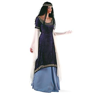 Costume de princesse elfe Mesdames costume médiéval fée princesse Lady ladies robe