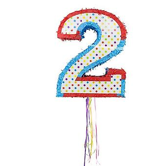 Pinata number 2 party candy stash kids birthday party game