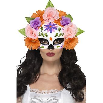 Day of the Dead Blumen Augen Maske Halbmaske Mexiko Halloween