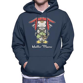 Hello Meow Space Dandy Kitty Men's Hooded Sweatshirt