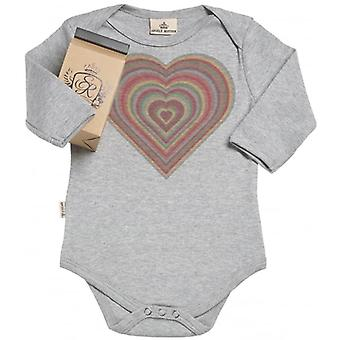 Spoilt Rotten Warm Heart Organic Babygrow In Gift Milk Carton
