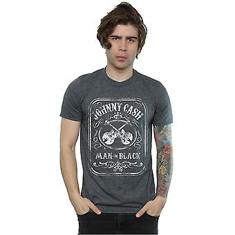 Johnny Cash Men's Man In Black Label T-Shirt