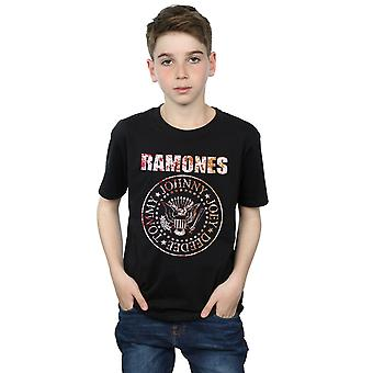 Ramones Boys Flower Rose T-Shirt