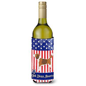 USA, bouteille de vin patriotique Beagle Beverge isolateur Hugger