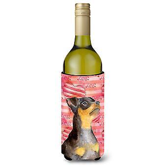 Pinscher Miniature #2 amore bottiglia di vino Beverge isolante Hugger