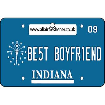 Indiana - Best Boyfriend License Plate Car Air Freshener