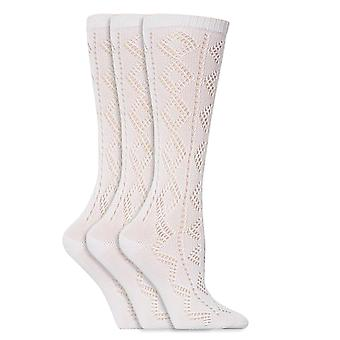 Socken Mädchen weiß Knie Gymnasium Pelerine (Packung mit 3)