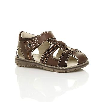 Ajvani garçons plats crochet & boucle sandales de pêcheur contraste été gladiateur