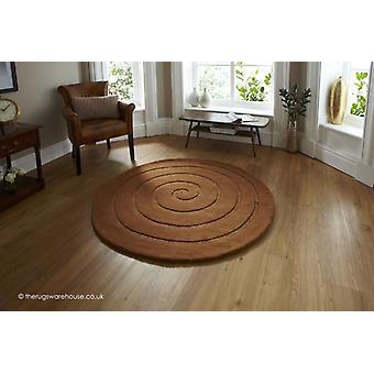 Spiral Braun Teppich