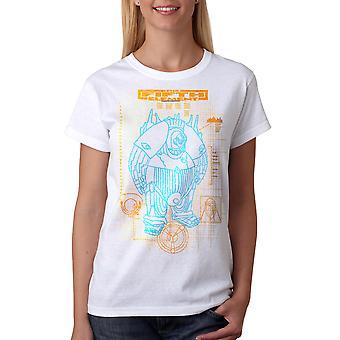T-shirt blanc le cinquième élément Schéma Mondo féminine