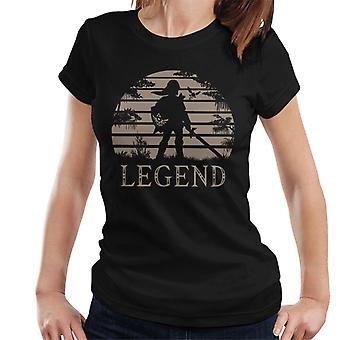 Legend Of Zelda Sonnenuntergang Triforce Damen T-Shirt