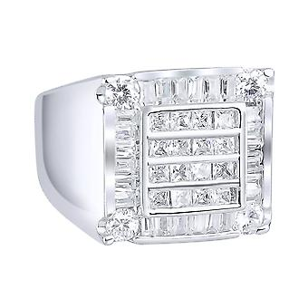Sterling 925 Silver pave ring - CUBE