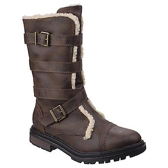 Rocket Dog Womens Lance Buckle Boot Brown